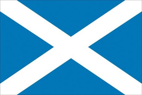 Schottland als Fanfahne