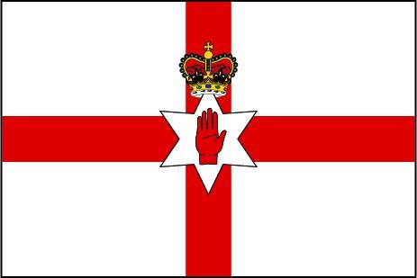 Nordirland als Fanfahne