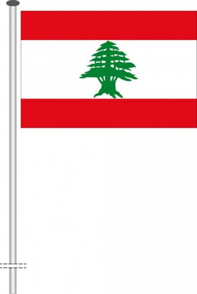Libanon als Querformatfahne