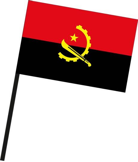 Angola als Stockfahne