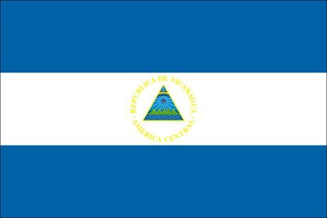 Nicaragua als Fanfahne