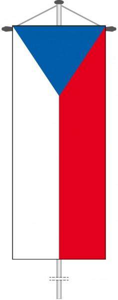 Tschechische Republik als Bannerfahne