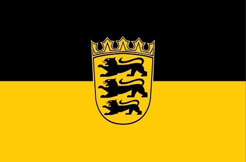 Baden-Württemberg als Fanfahne