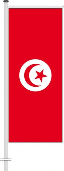 Tunesien als Auslegerfahne
