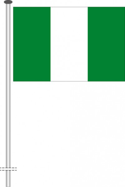 Nigeria als Querformatfahne