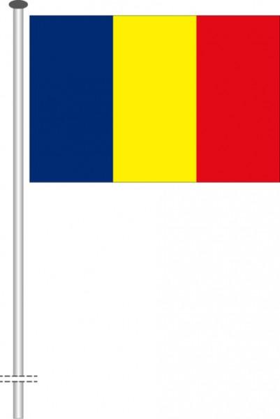Andorra als Querformatfahne
