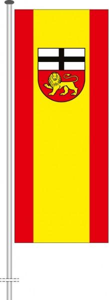 Bonn mit Wappen als Hochformatfahne