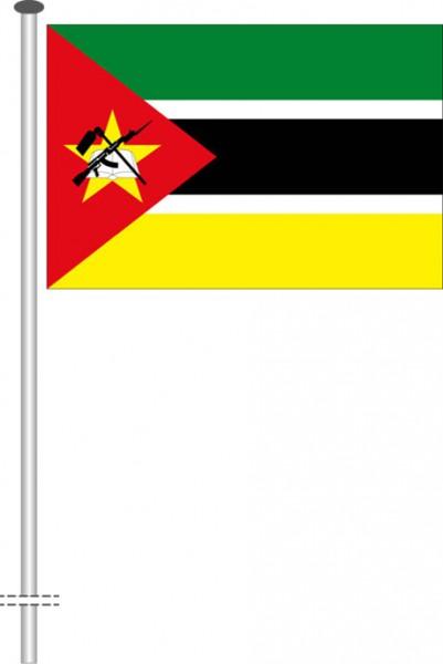 Mosambik als Querformatfahne