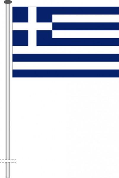 Griechenland als Querformatfahne