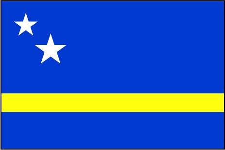 Curacao als Fanfahne