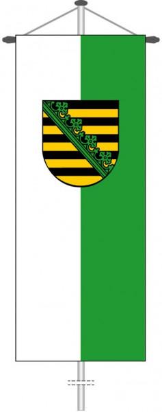 Sachsen - Dienstflagge als Bannerfahne