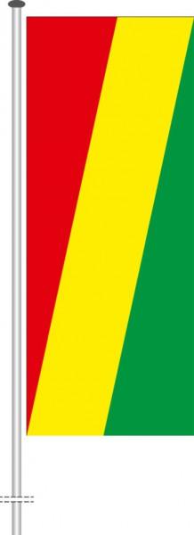 Kongo Brazzaville als Hochformatfahne