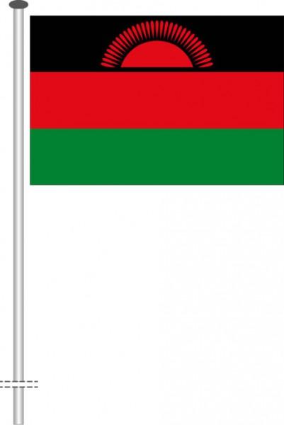 Malawi als Querformatfahne