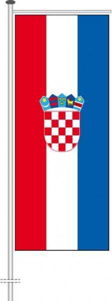 Kroatien als Auslegerfahne