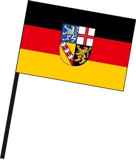 Saarland - Bürgerflagge als Stockfahne