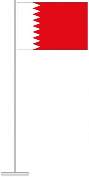Bahrain als Tischfahne