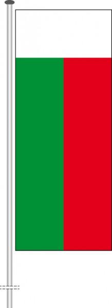 Madagaskar als Hochformatfahne
