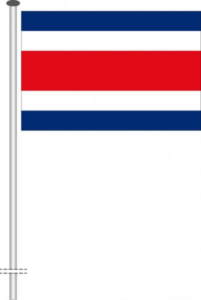 Costa Rica als Querformatfahne