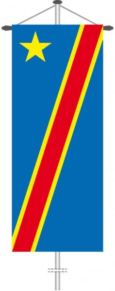 Kongo Kinshasa als Bannerfahne