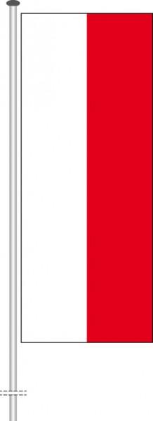 Polen als Hochformatfahne