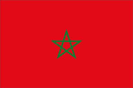 Marokko als Fanfahne