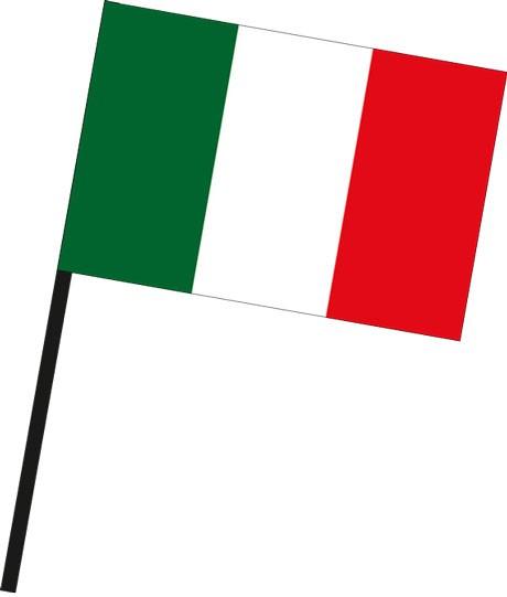 Italien als Stockfahne