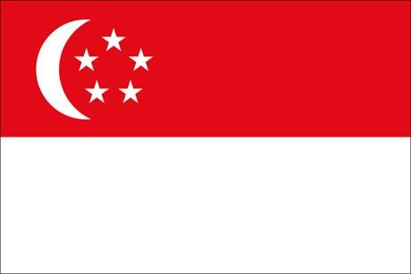 Singapur als Fanfahne