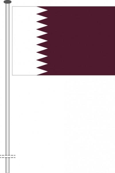 Katar als Querformatfahne