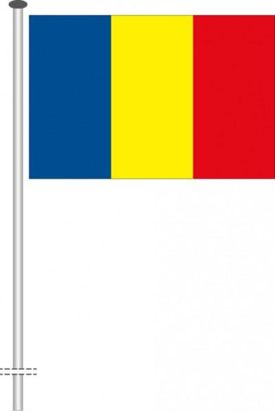 Rumaenien als Querformatfahne