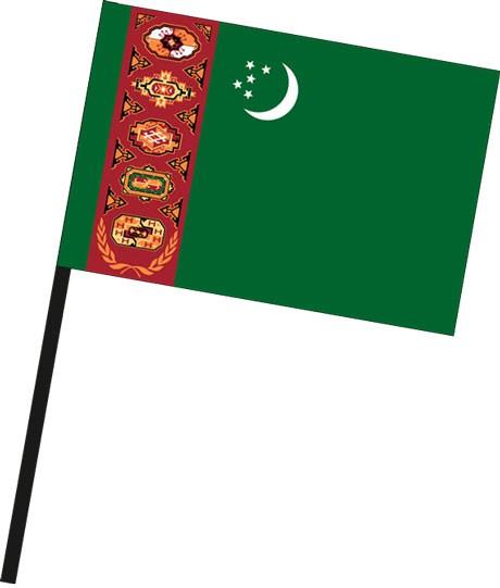 Turkmenistan als Stockfahne