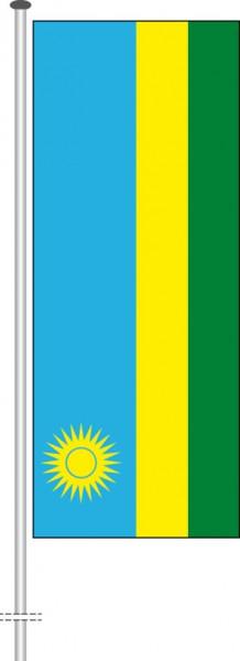 Ruanda als Hochformatfahne