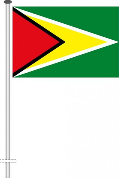 Guyana als Querformatfahne