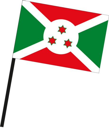 Burundi als Stockfahne