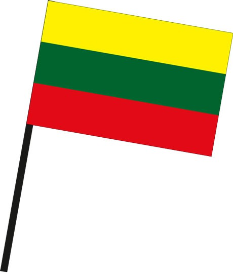 Litauen als Stockfahne