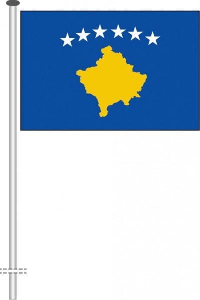Kosovo als Querformatfahne