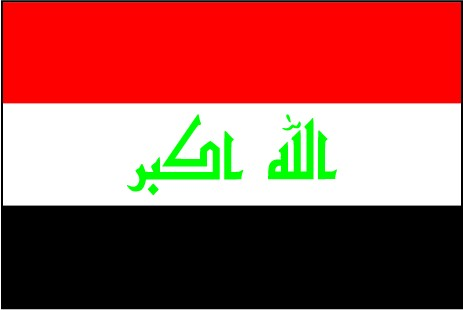 Irak als Fanfahne
