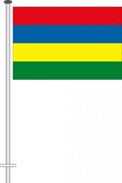 Mauritius als Querformatfahne