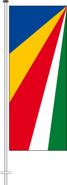 Seychellen als Hochformatfahne