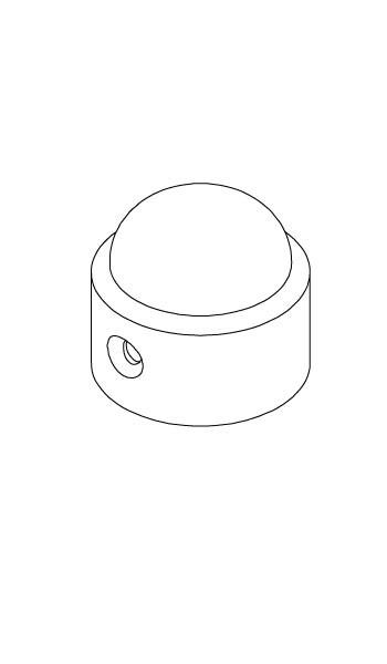 Kunststoffkappe/Mastkopf - schwarz