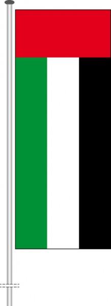 Vereinigte Arabische Emirate als Hochformatfahne