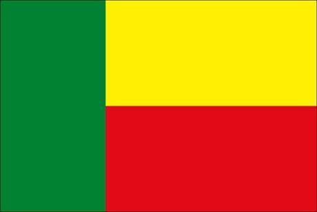 Benin als Fanfahne