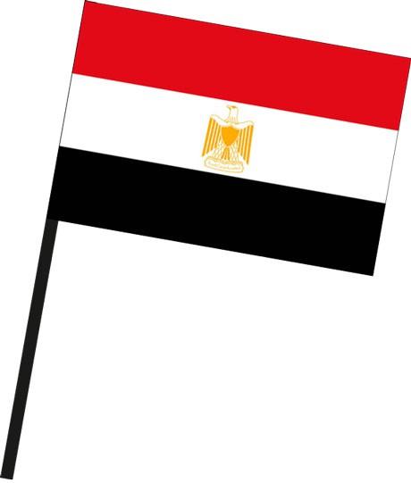 Aegypten als Stockfahne