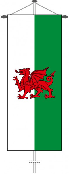 Wales als Bannerfahne