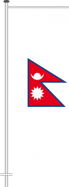 Nepal als Auslegerfahne