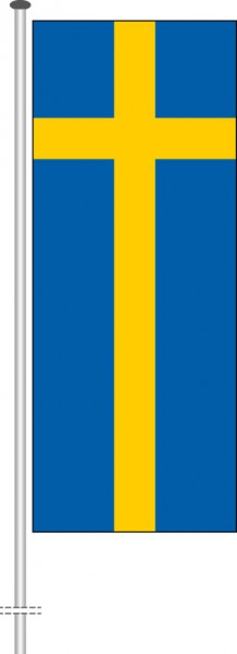Schweden als Hochformatfahne
