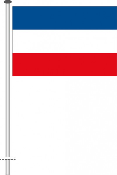 Serbien als Querformatfahne
