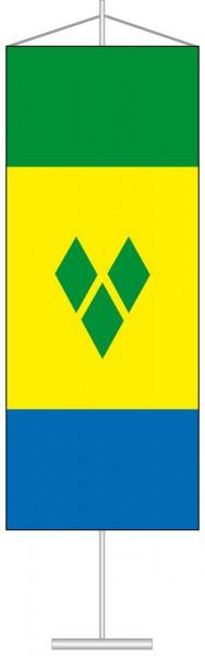 St. Vincent und Grenadien als Tischbanner