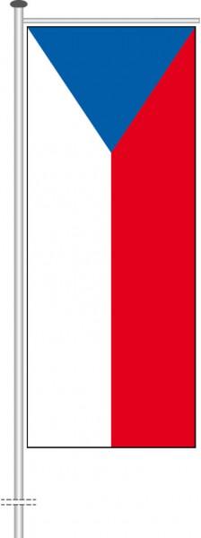 Tschechische Republik als Auslegerfahne