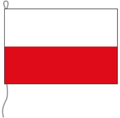 Polen als Bootsfahne