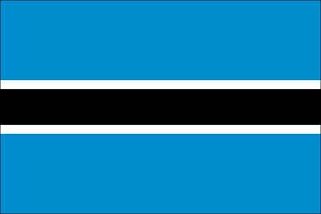 Botsuana als Fanfahne